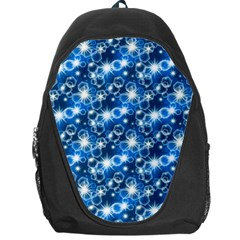 Star Hexagon Blue Deep Blue Light Backpack Bag by Pakrebo