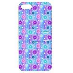 Flowers Light Blue Purple Magenta Apple Iphone 5 Hardshell Case With Stand