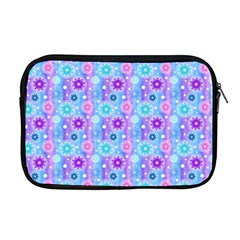 Flowers Light Blue Purple Magenta Apple Macbook Pro 17  Zipper Case