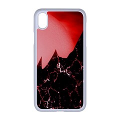 Sci Fi Red Fantasy Futuristic Apple Iphone Xr Seamless Case (white)