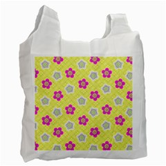 Traditional Patterns Plum Recycle Bag (one Side)