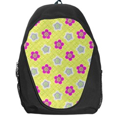 Traditional Patterns Plum Backpack Bag by Pakrebo