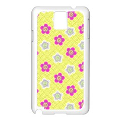Traditional Patterns Plum Samsung Galaxy Note 3 N9005 Case (white)