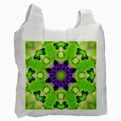 Pattern Abstract Background Art Green Recycle Bag (one Side)