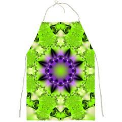 Pattern Abstract Background Art Green Full Print Aprons