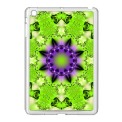 Pattern Abstract Background Art Green Apple Ipad Mini Case (white)