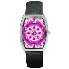 Pattern Abstract Background Art Purple Barrel Style Metal Watch