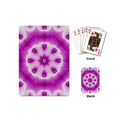 Pattern Abstract Background Art Purple Playing Cards (mini)