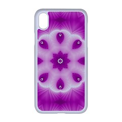 Pattern Abstract Background Art Purple Apple Iphone Xr Seamless Case (white)