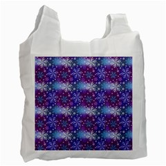 Snow White Blue Purple Tulip Recycle Bag (two Side)