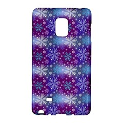 Snow White Blue Purple Tulip Samsung Galaxy Note Edge Hardshell Case