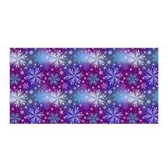 Snow White Blue Purple Tulip Satin Wrap
