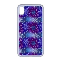 Snow White Blue Purple Tulip Apple Iphone Xr Seamless Case (white)