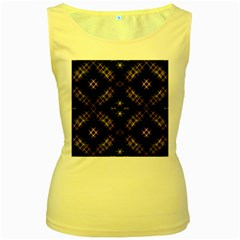 Seamless Background Abstract Vector Women s Yellow Tank Top