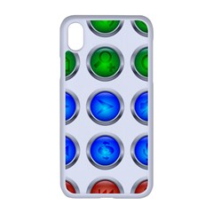 Vector Round Image Color Button Apple Iphone Xr Seamless Case (white)