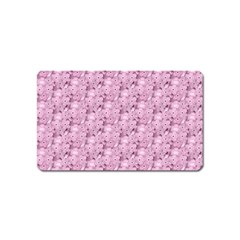 Texture Flower Background Pink Magnet (name Card)