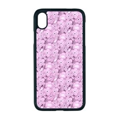 Texture Flower Background Pink Apple Iphone Xr Seamless Case (black)