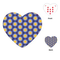 Graphic Pattern Seamless Playing Cards (heart)