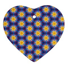 Graphic Pattern Seamless Heart Ornament (two Sides)