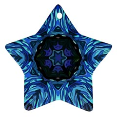 Background Blue Flower Ornament (star)