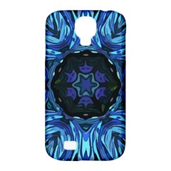 Background Blue Flower Samsung Galaxy S4 Classic Hardshell Case (pc+silicone)