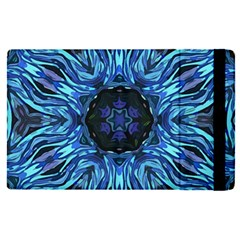 Background Blue Flower Apple Ipad Pro 9 7   Flip Case