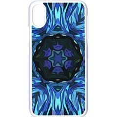 Background Blue Flower Apple Iphone Xs Seamless Case (white) by Pakrebo