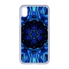 Background Blue Flower Apple Iphone Xr Seamless Case (white)