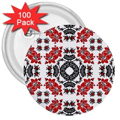 Ornament Seamless Pattern Element 3  Buttons (100 Pack)
