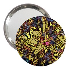 Lilies Abstract Flowers Nature 3  Handbag Mirrors by Pakrebo