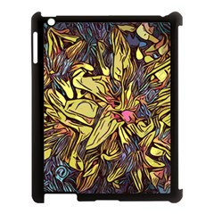 Lilies Abstract Flowers Nature Apple Ipad 3/4 Case (black)