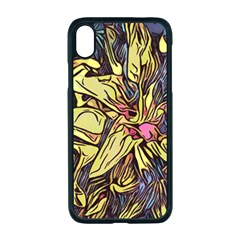 Lilies Abstract Flowers Nature Apple Iphone Xr Seamless Case (black)