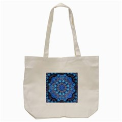 Fractal Mandala Abstract Tote Bag (cream)