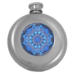 Fractal Mandala Abstract Round Hip Flask (5 Oz)