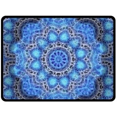 Fractal Mandala Abstract Fleece Blanket (large)