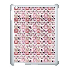 Graphic Seamless Pattern Pig Apple Ipad 3/4 Case (white)