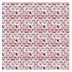 Graphic Seamless Pattern Pig Large Satin Scarf (square)
