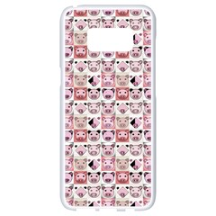 Graphic Seamless Pattern Pig Samsung Galaxy S8 White Seamless Case