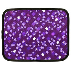 Textile Cross Pattern Square Netbook Case (large)