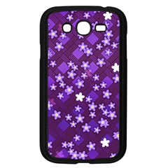 Textile Cross Pattern Square Samsung Galaxy Grand Duos I9082 Case (black)
