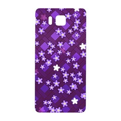 Textile Cross Pattern Square Samsung Galaxy Alpha Hardshell Back Case