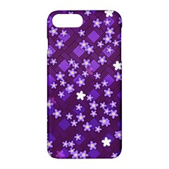 Textile Cross Pattern Square Apple Iphone 7 Plus Hardshell Case