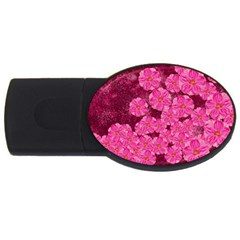 Cherry Blossoms Floral Design Usb Flash Drive Oval (4 Gb)
