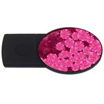 Cherry Blossoms Floral Design USB Flash Drive Oval (4 GB) Front