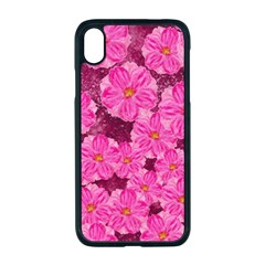 Cherry Blossoms Floral Design Apple Iphone Xr Seamless Case (black)