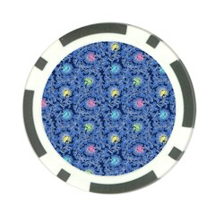 Floral Design Asia Seamless Pattern Poker Chip Card Guard (10 Pack)