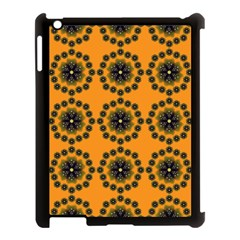 Abstract Template Flower Apple Ipad 3/4 Case (black)