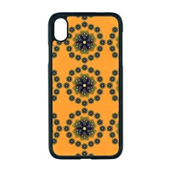 Abstract Template Flower Apple Iphone Xr Seamless Case (black)