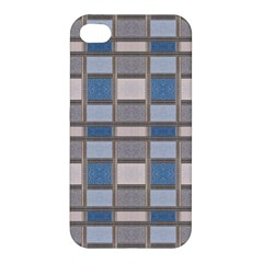 Abstract Seamless Fabric Blue Apple Iphone 4/4s Hardshell Case