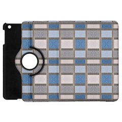Abstract Seamless Fabric Blue Apple Ipad Mini Flip 360 Case by Pakrebo